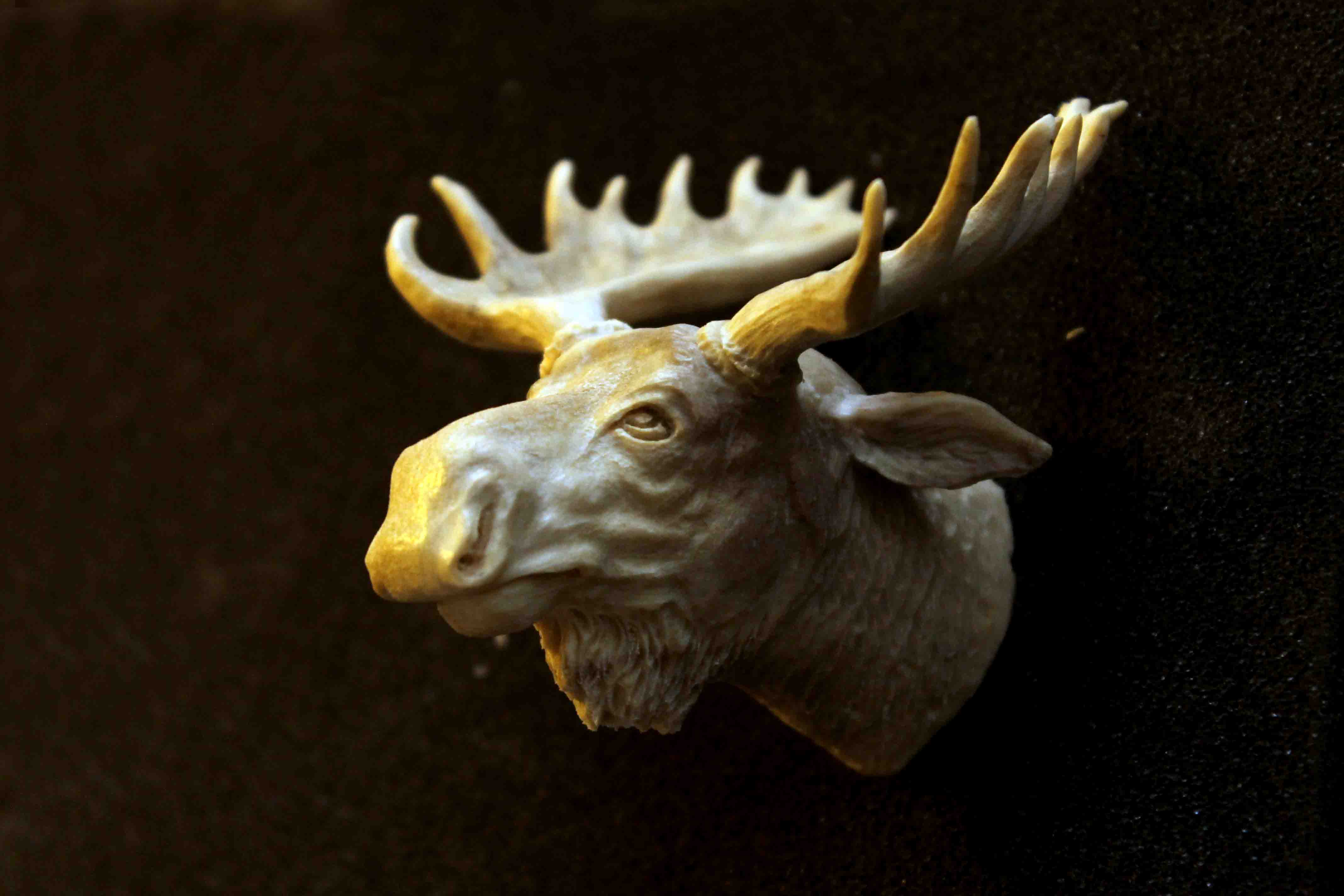 Moose Head Antler Sculpture